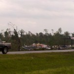This is what's left of a Jet Pep gas station in Arab. It was demolished from one of several tornadoes in the area today.