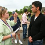 Working in one of Huntsville's harder-hit areas. (Yes, that's John Stamos. He and the Beach Boys toured the area before a concert.)