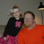 Squeakers with her Uncle Brian.