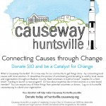 {Click flier to donate at huntsville.causeway.org}