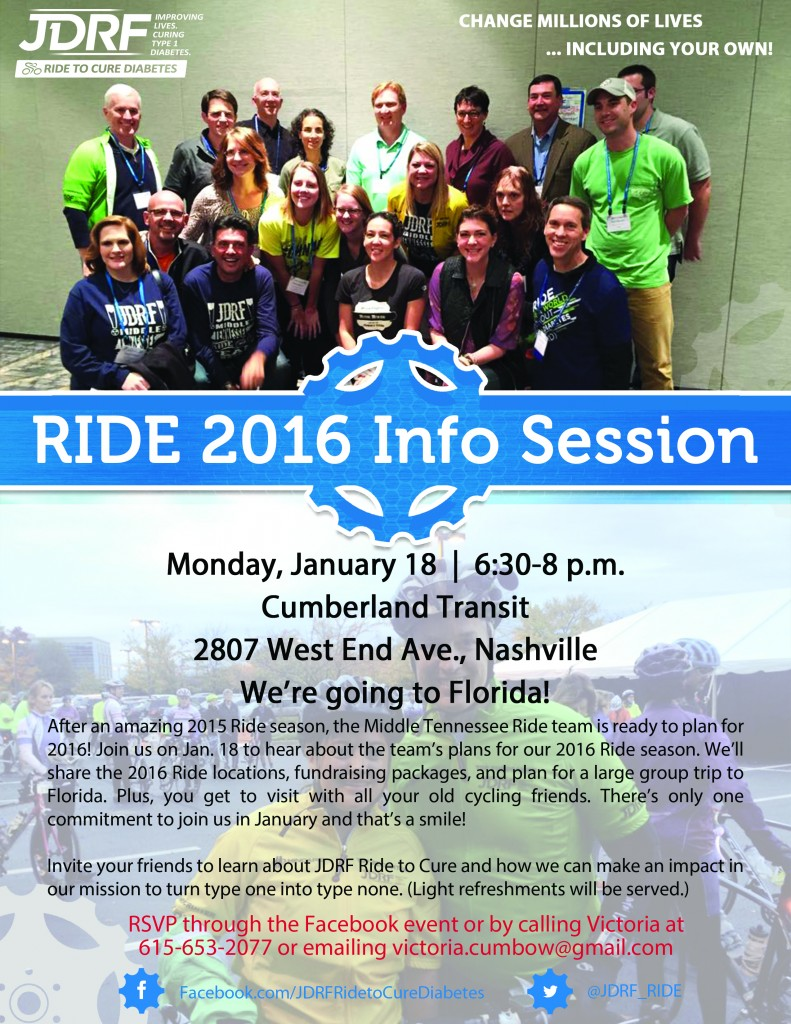 Ride to Cure 2016 Info Session 2
