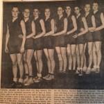 My grandmother's basketball team, 1934