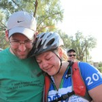 After crossing the finish line in Death Valley, 2012.